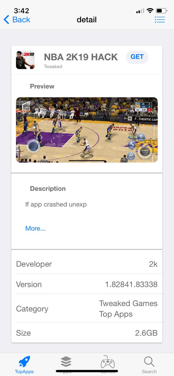 TopStore NBA 2K19 Hack on iOS - No Jailbreak & No PC Required