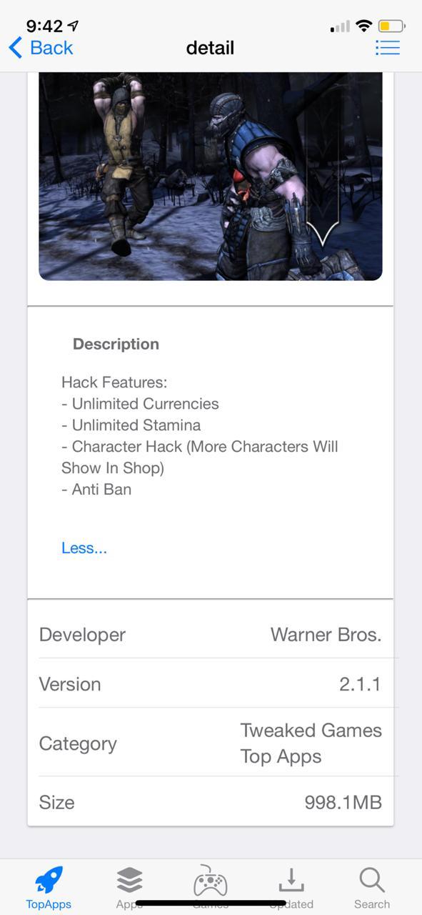 Mortal Kombat X Hack on iOS Download