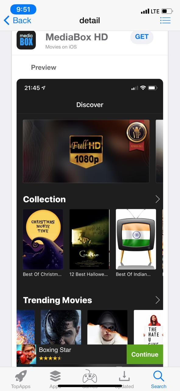 """Get MediaBox HD"" - TopStore"