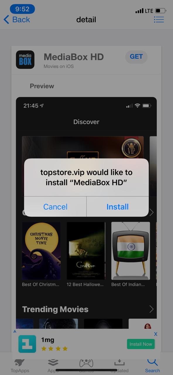 Install MediaBox HD - TopStore App