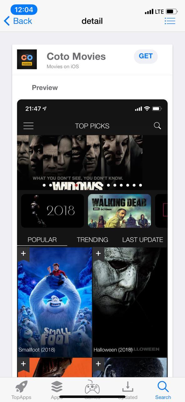 Coto Movies App - TopStore
