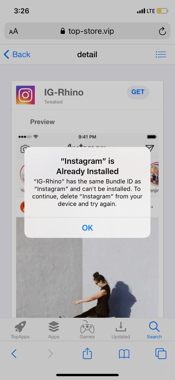 IG Rhino on iOS