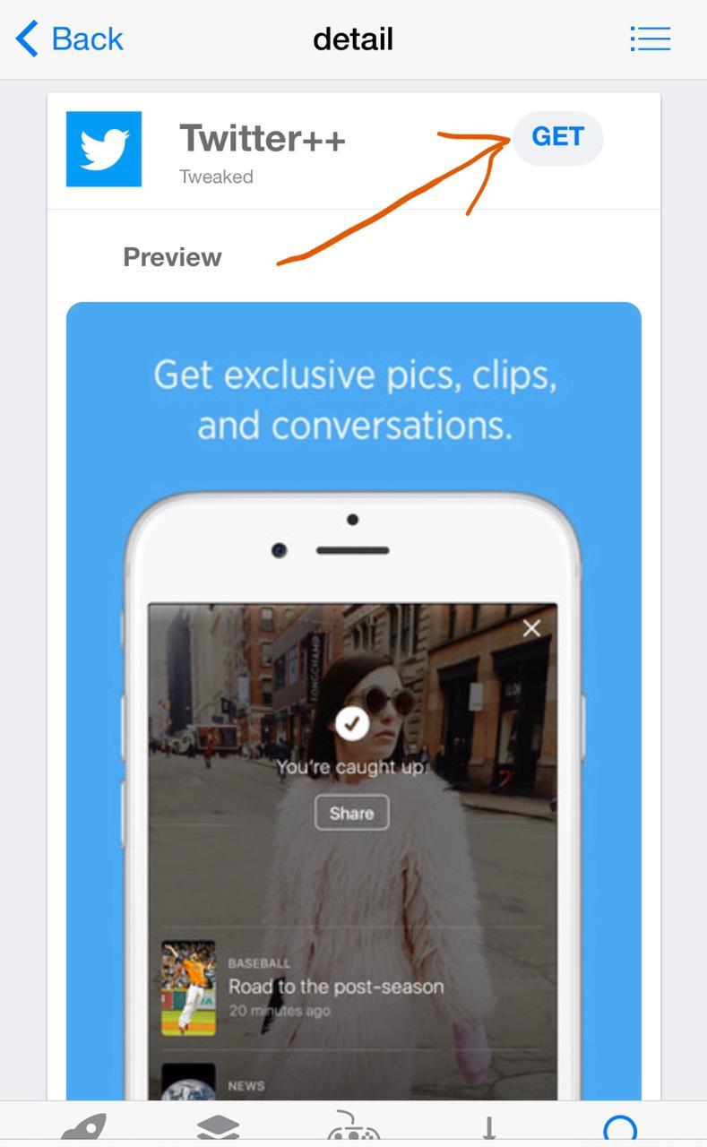 'Get' Twitter++ on iOS