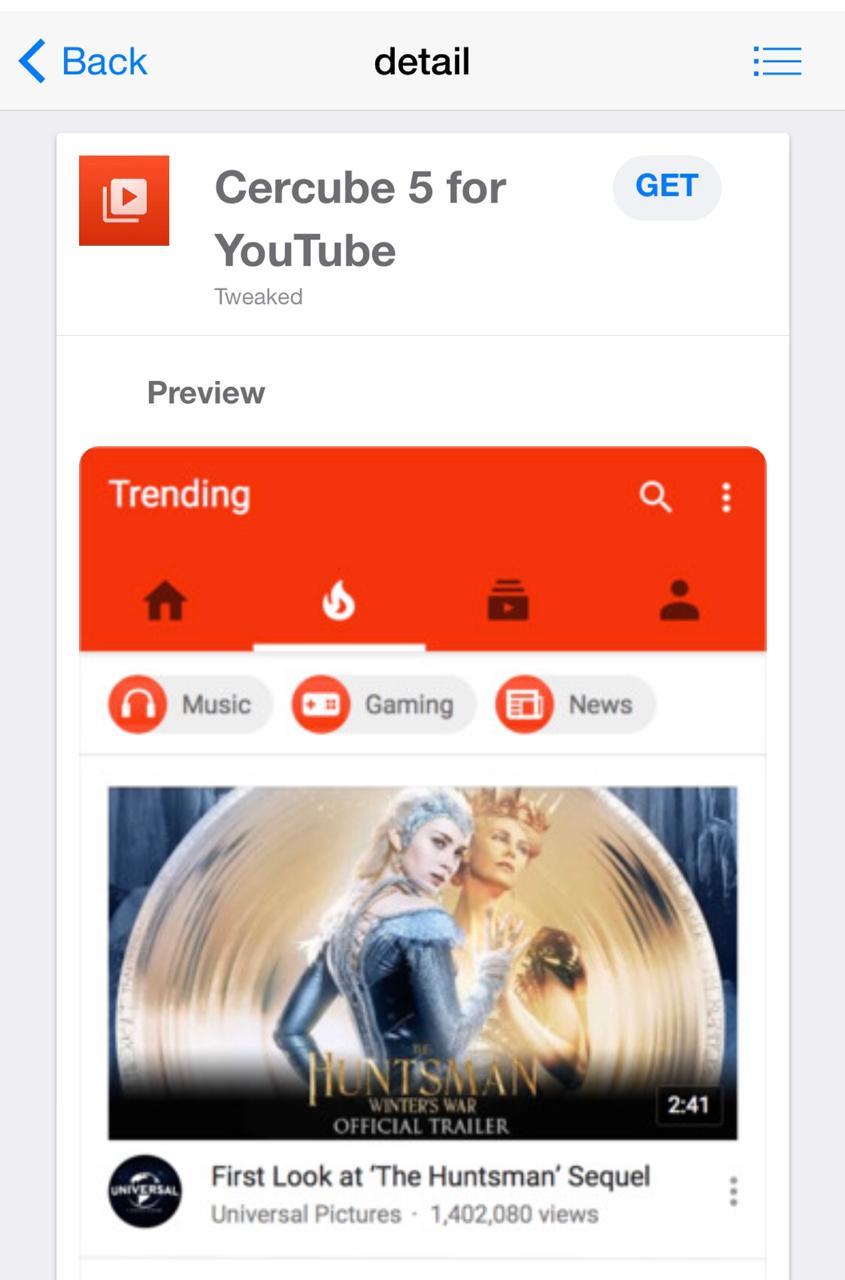 Download Cercube App for YouTube