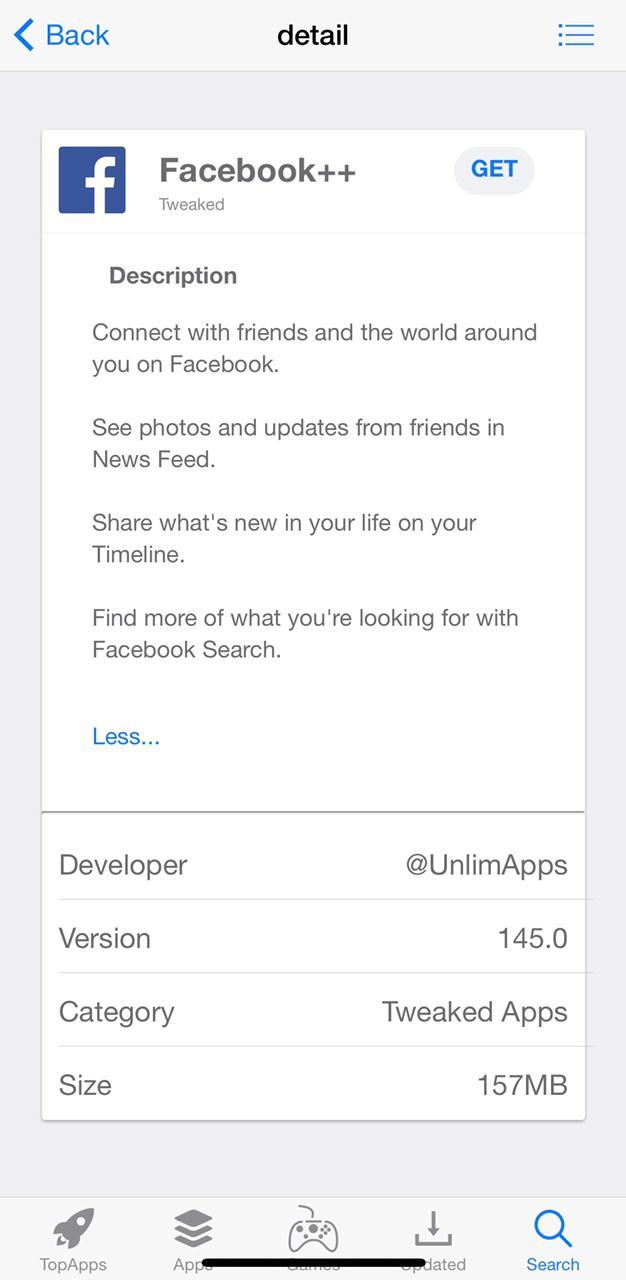 facebook++ ios