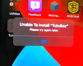 Unable to Install 'TuTuBox'