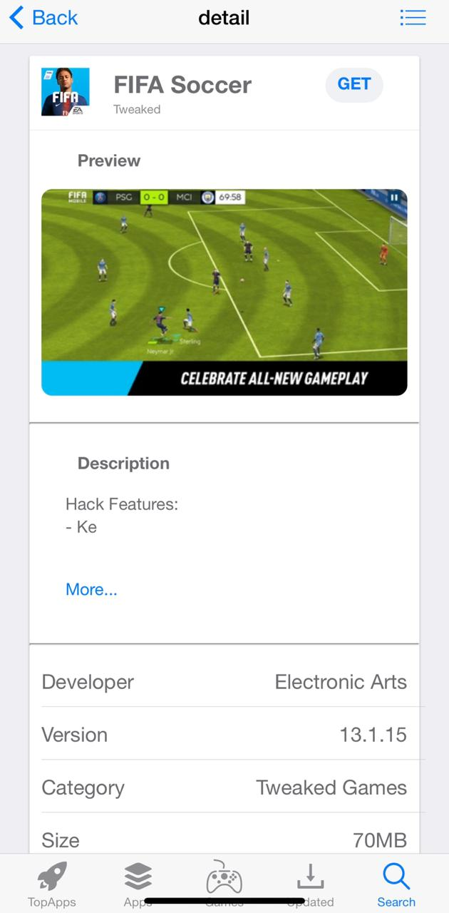 fifa soccer hack home screen